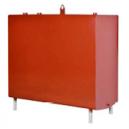 600 ltr. firkantet C1 (indendørs) m/anode rød