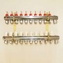 9 kreds Standard fordeler med flowmeter